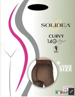 Rajstopy SOLIDEA CURVY 140 DEN sheer NEW